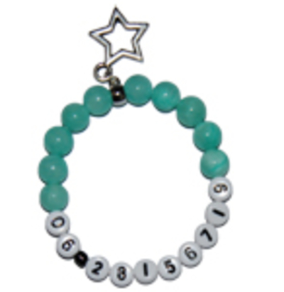 "Jade S.O.S. jongens armband groen ""moed"""