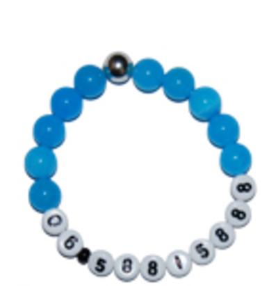 """Jade S.O.S. jongens armband blauw """"einstein"""""""