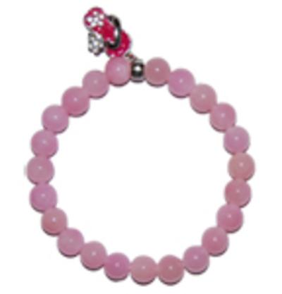 """Moeder sieraden: Jade armband roze 8mm kraal model """"vrolijkheid"""""""