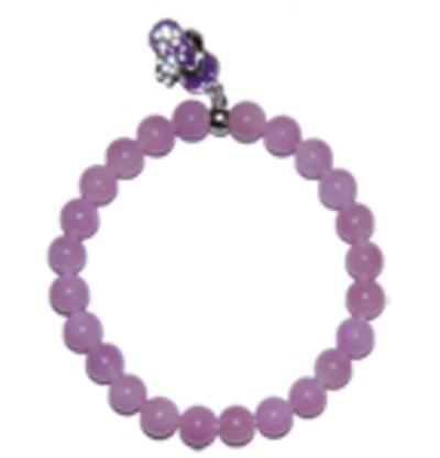 "Moeder sieraden: Jade armband lila 8mm kraal model ""in balans"""