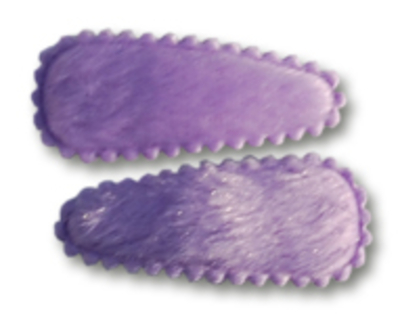 Haarspeldjes met lila bonte hoesje 4 cm