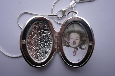 ketting medaillon 925 verzilverd