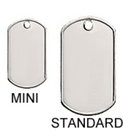Identiteitsplaatje mini rvs gratis silencer
