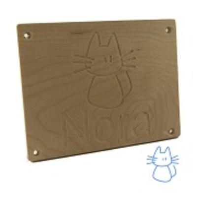 Kindernaambord kat met naam