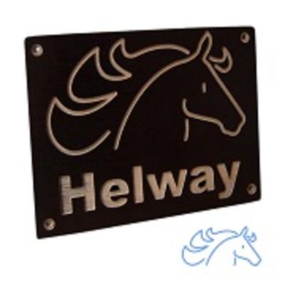 Kindernaambord paard met naam