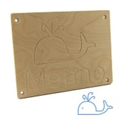 Kindernaambord walvis met naam