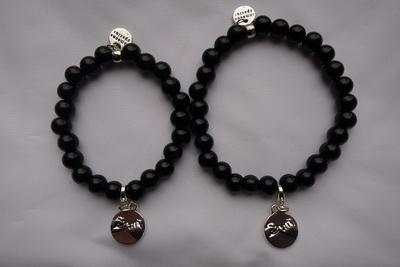 Jade armbanden set pinky promise met of zonder naam Aanbieding